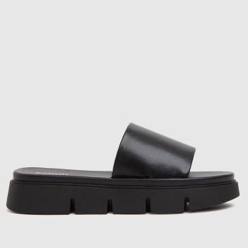 schuh Black Thurman Chunky Mule Slider Womens Sandals
