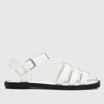 schuh White Luella Fisherman Womens Sandals