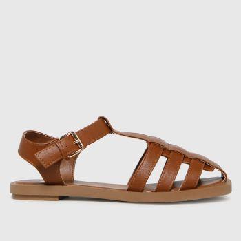schuh Tan Luella Fisherman Womens Sandals