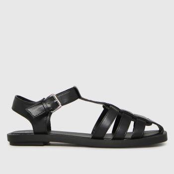 schuh Black Luella Fisherman Womens Sandals