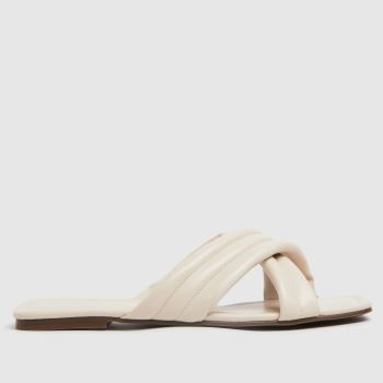 schuh Natural Trilby Padded Cross Strap Mule Womens Sandals