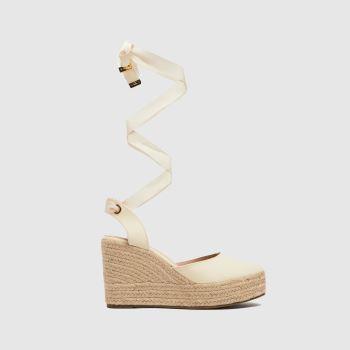 schuh Natural Tie Closed Toe Espadrille Womens Sandals