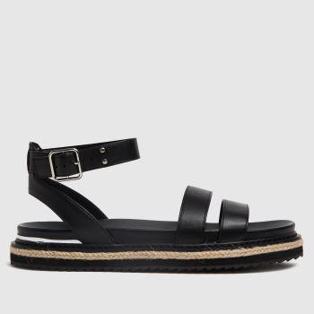 schuh Black Teal Buckle Sandal Womens Sandals