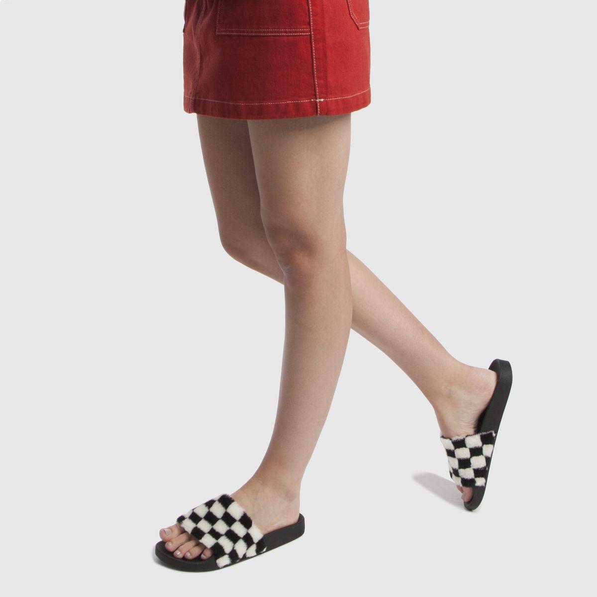 Damen Schwarz-weiß schuh Fuzzy Slider Sandalen beliebte   schuh Gute Qualität beliebte Sandalen Schuhe 90cf72