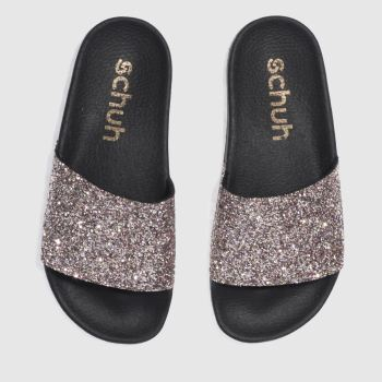 Schuh Pink & Silver Proper Boss Slider Womens Sandals
