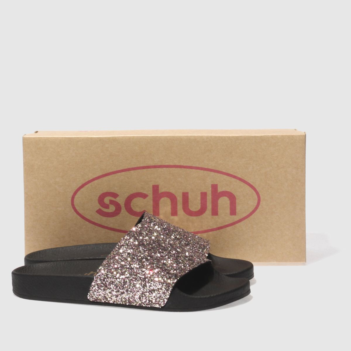 Damen Pink-silber schuh Proper schuh Boss Slider Sandalen | schuh Proper Gute Qualität beliebte Schuhe 300419