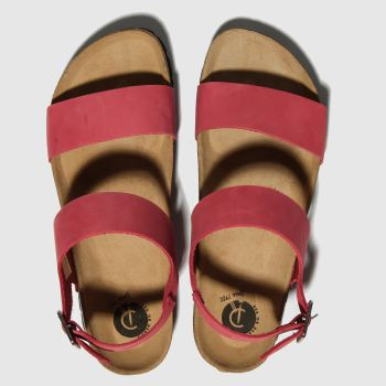red or dead red viscount ii sandals