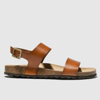 Red Or Dead tan viscount ii sandals