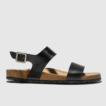 RED OR DEAD Black Viscount Ii Womens Sandals