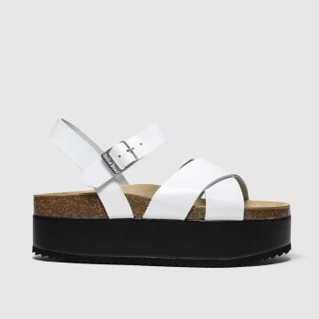 Red Or Dead White Hacienda Womens Sandals