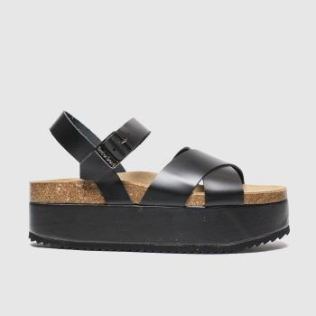 RED OR DEAD Black Hacienda Womens Sandals