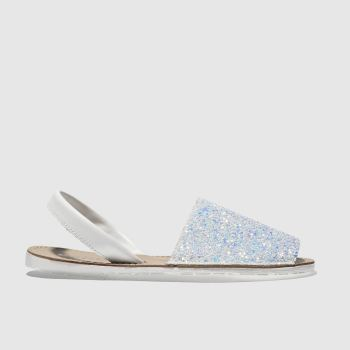 Schuh White Barcelona Womens Sandals