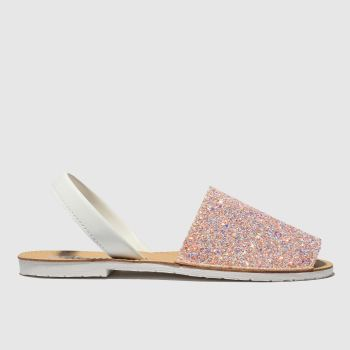 Schuh White & Pink Barcelona Womens Sandals
