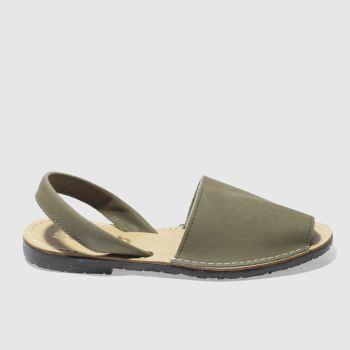 schuh khaki barcelona sandals
