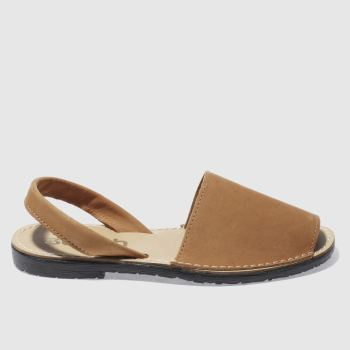 schuh Tan Barcelona Womens Sandals