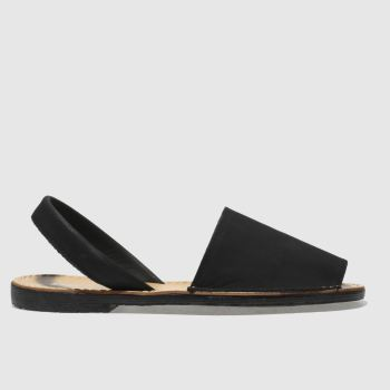 Schuh Black Barcelona Womens Sandals