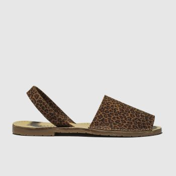 Schuh Brown & Black Barcelona Womens Sandals
