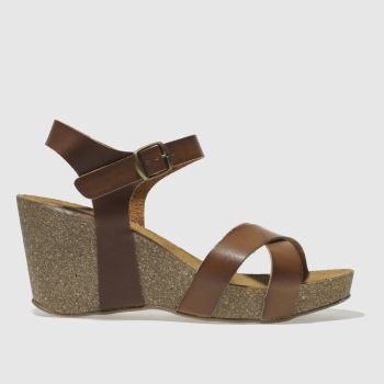Schuh Tan Gorgie Gayle Womens Sandals