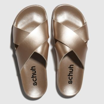 Schuh Bronze Crossword Sandals