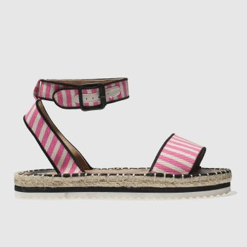 Schuh White & Pink Holiyay Womens Sandals