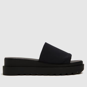 The Edit by schuh Black Paola Chunky Mule Womens Sandals