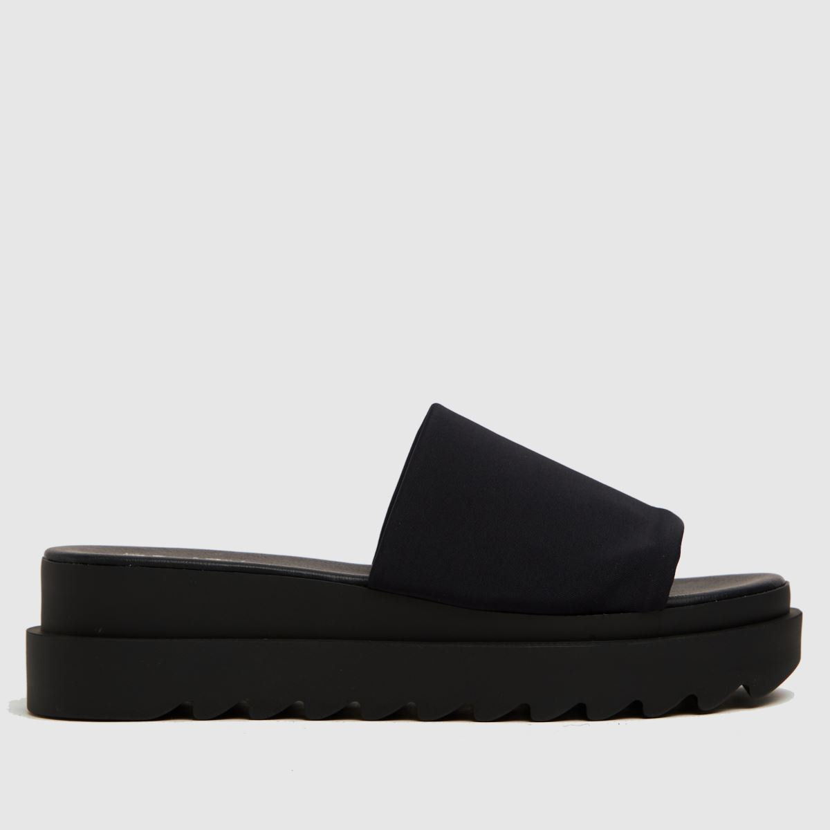 The Edit By Schuh Black Paola Chunky Mule Sandals