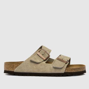 BIRKENSTOCK Beige & Brown Arizona Womens Sandals