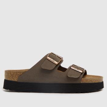 BIRKENSTOCK Brown Papillio Grooved Vegan Womens Sandals