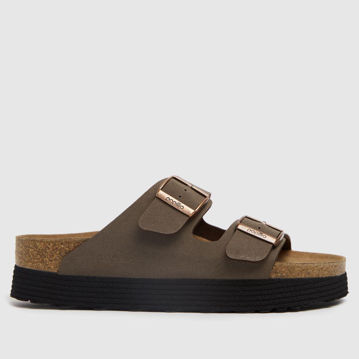 BIRKENSTOCK Brown Papillio Grooved Vegan Sandals