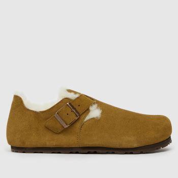 BIRKENSTOCK Tan London Shearling Womens Sandals