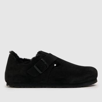 BIRKENSTOCK Black Birk London Shearling Womens Sandals
