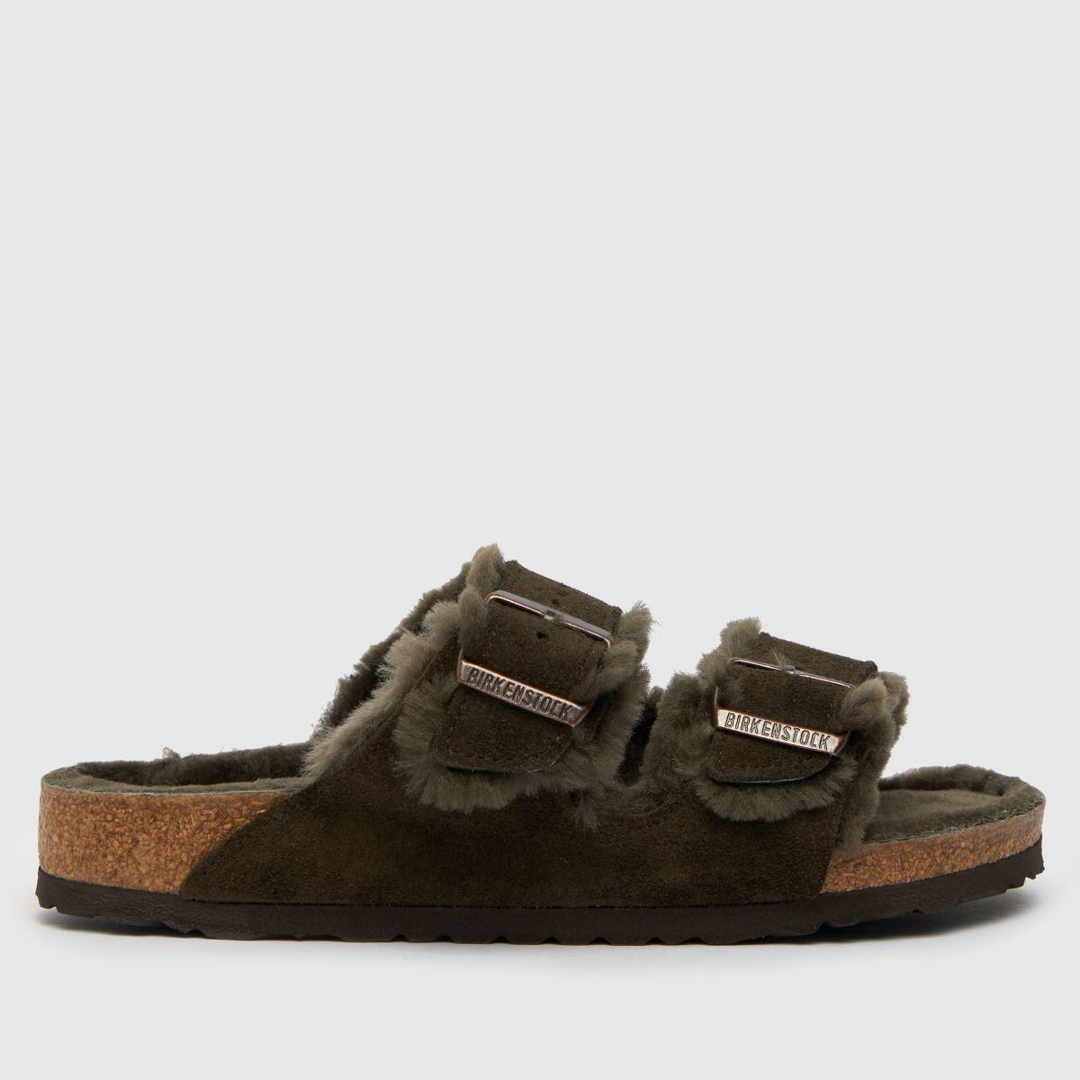 BIRKENSTOCK Brown Arizona Shearling Sandals