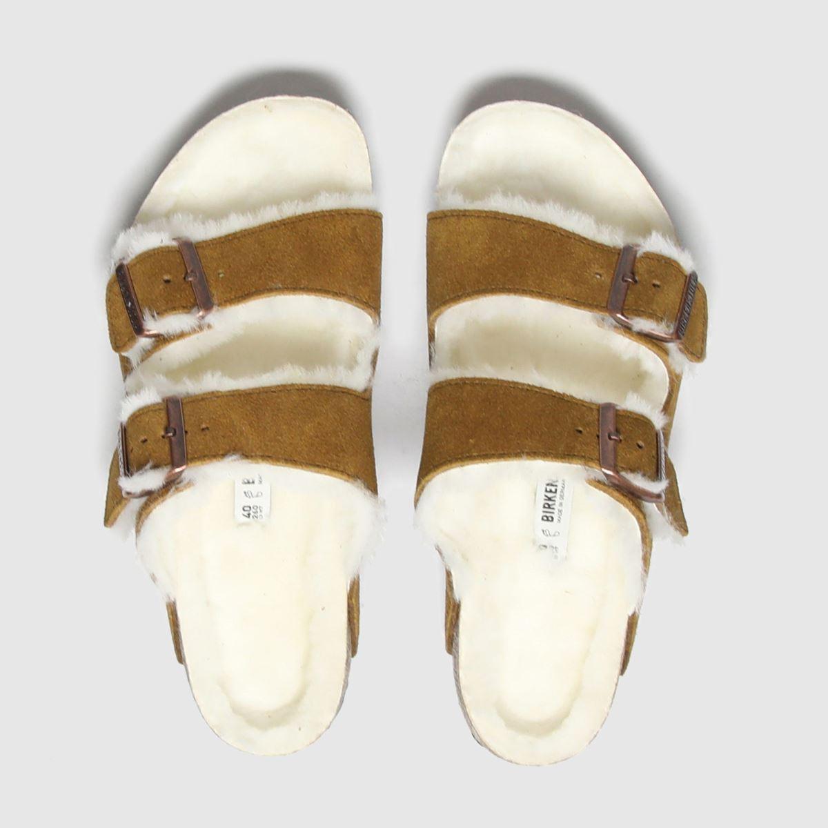 BIRKENSTOCK Tan Birk Arizona Shearling Sandals