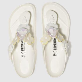 9a2dac9b73e5 womens white birkenstock gizeh flower eva sandals