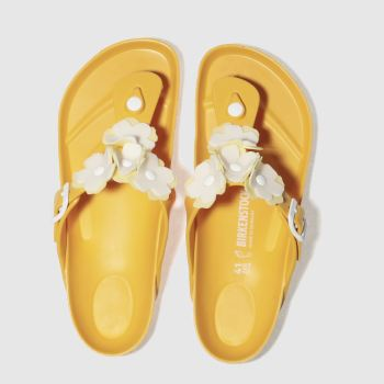 Birkenstock Yellow Gizeh Flower Eva Womens Sandals