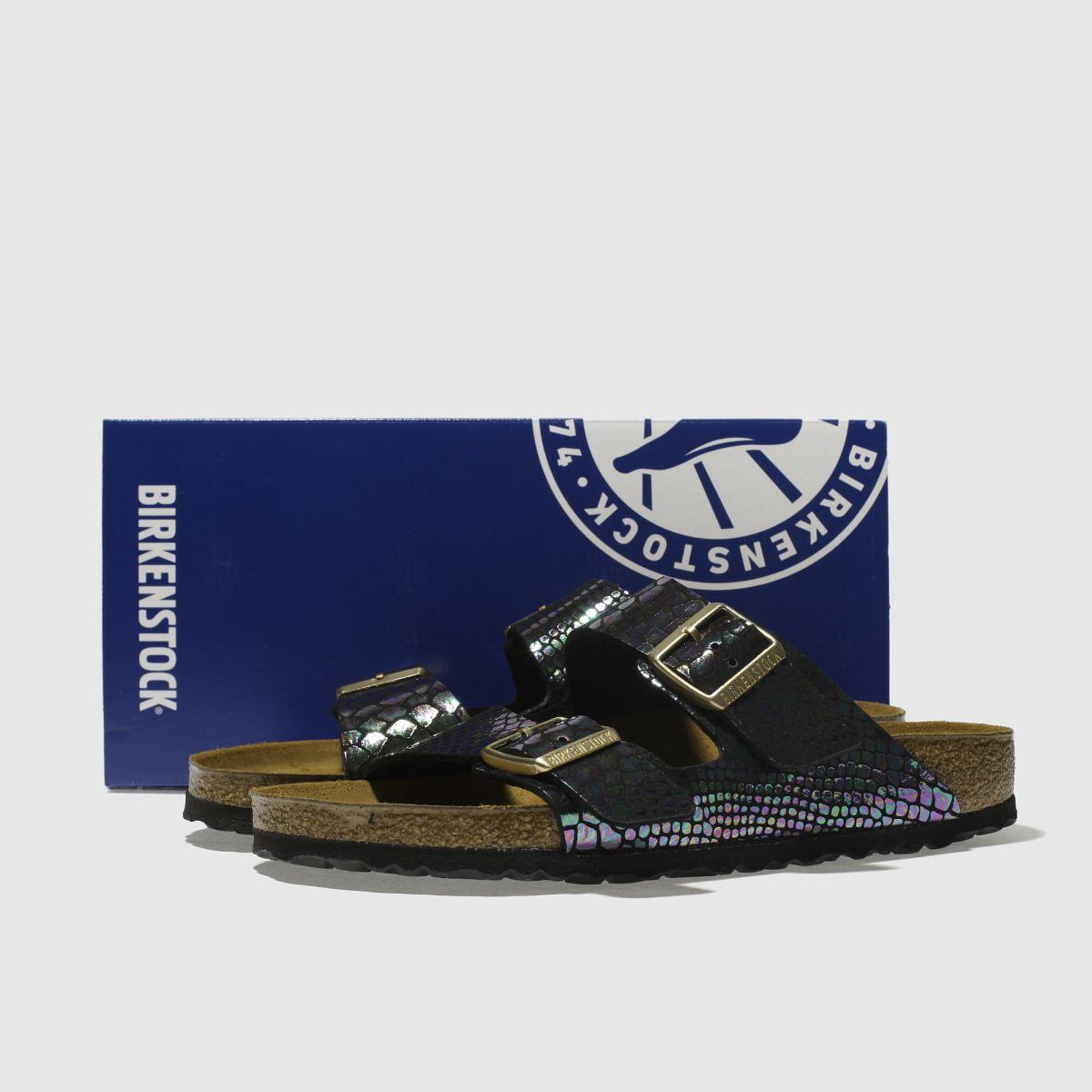 Damen Schwarz birkenstock Arizona schuh Shiny Snake Sandalen   schuh Arizona Gute Qualität beliebte Schuhe f697f9
