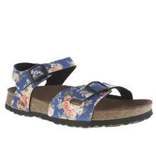 Womens Blue Birkenstock Rio Rambling Rose Sandals
