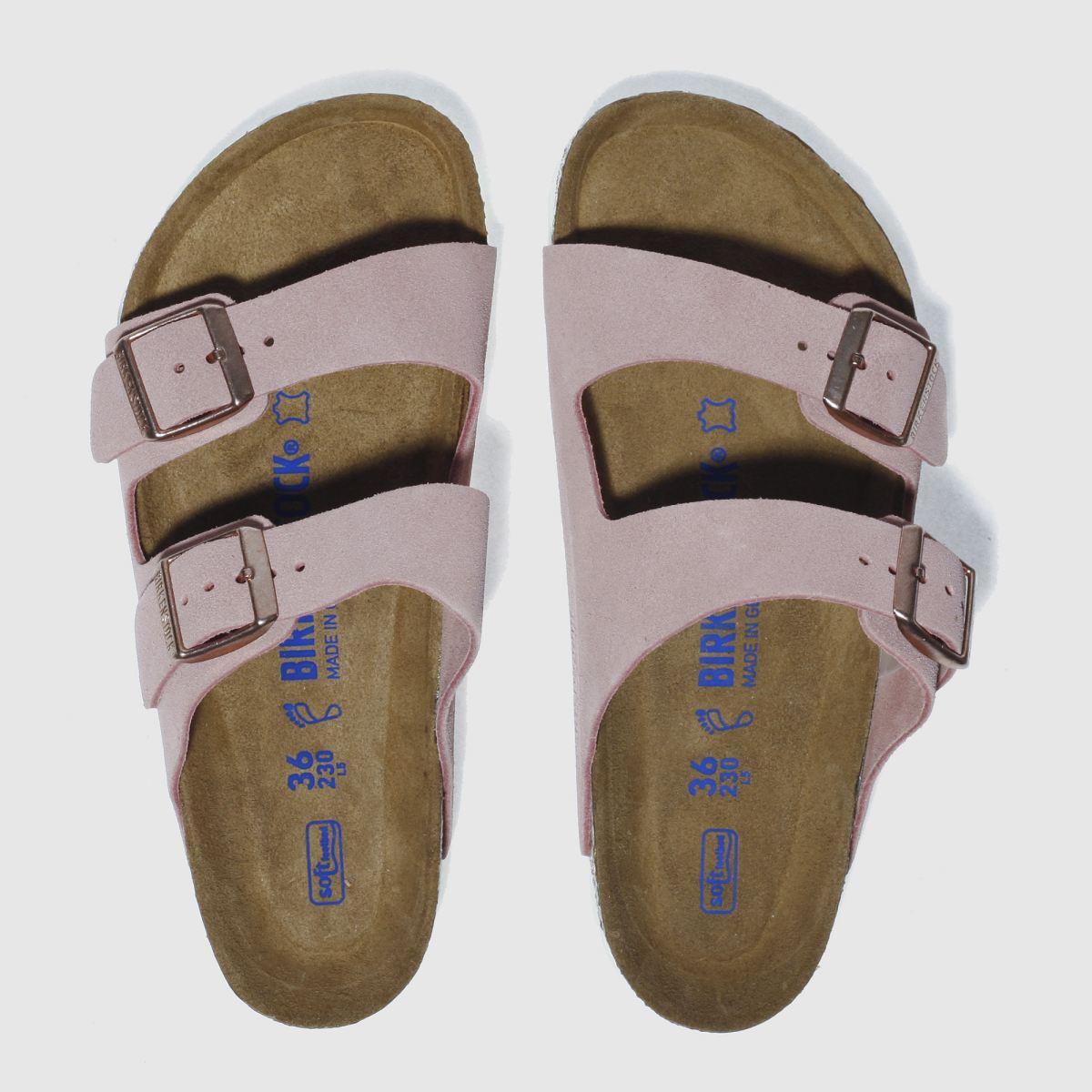 Birkenstock Pale Pink Arizona Soft Footbed Suede Sandals