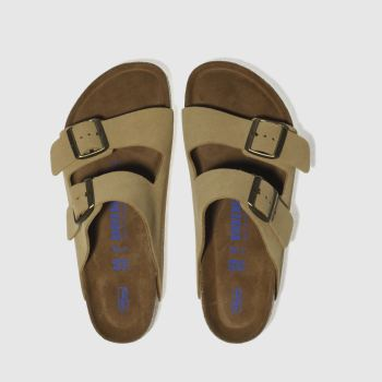 aff48d176eca Birkenstock Beige Arizona Soft Footbed Womens Sandals