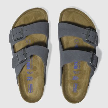 Birkenstock Grey ARIZONA SOFT FOOTBED SUEDE Sandals