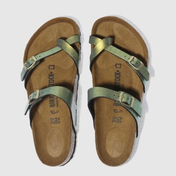 09e7b5a8cb0431 womens gold birkenstock mayari graceful gemm sandals