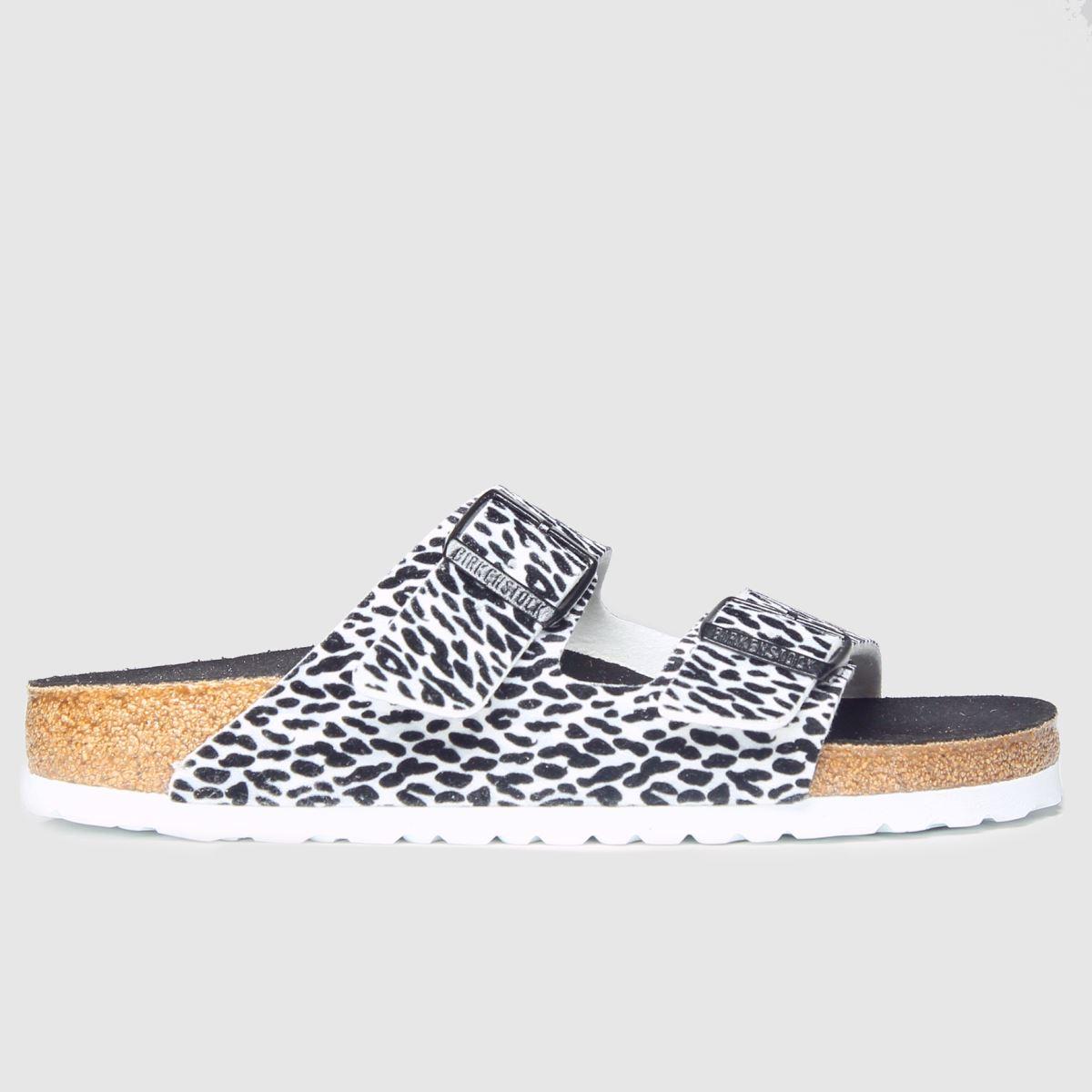 Birkenstock White & Black Arizona Sandals