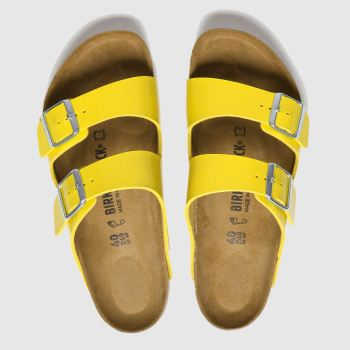 birkenstock yellow arizona patent sandals