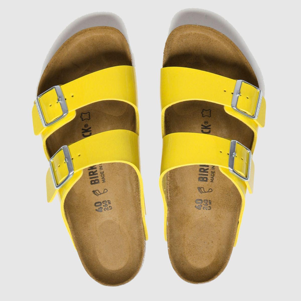 Birkenstock Yellow Arizona Patent Sandals