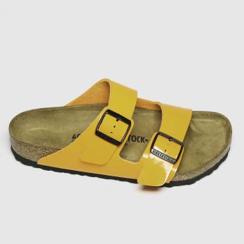 BIRKENSTOCK Orange Arizona Patent Womens Sandals