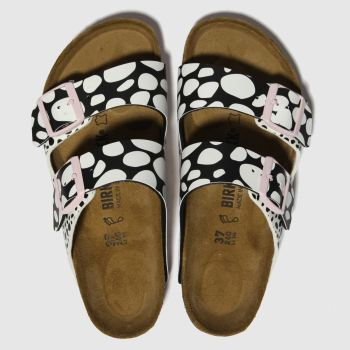 Birkenstock Black & White Arizona Womens Sandals