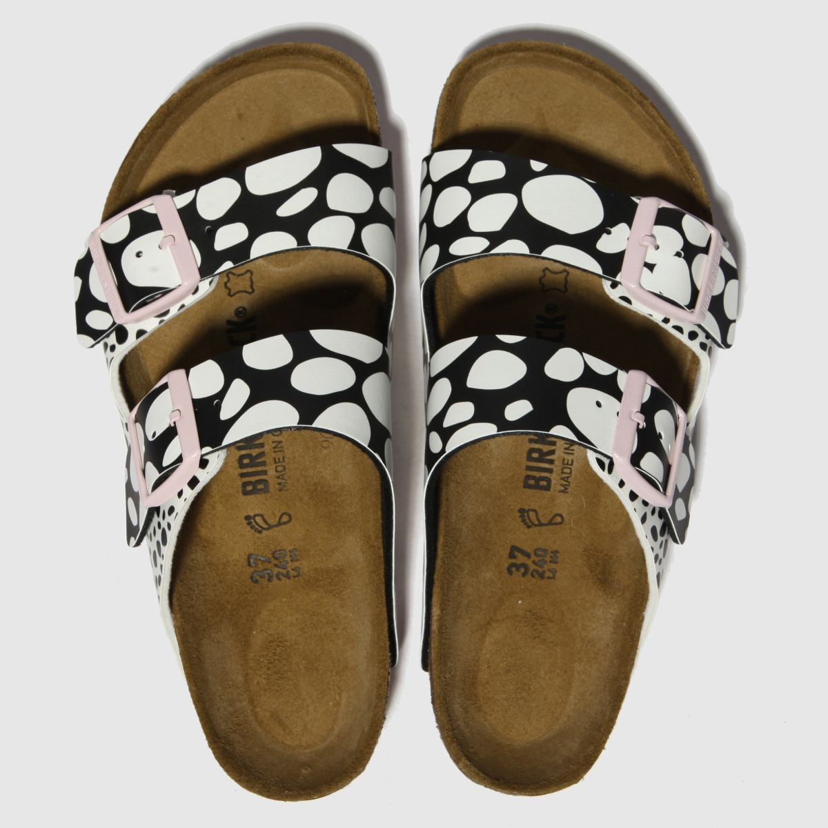 Birkenstock Black & White Arizona Sandals