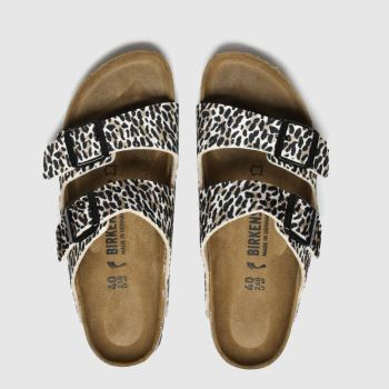 Birkenstock Brown & Black Leopard Print Arizona Womens Sandals