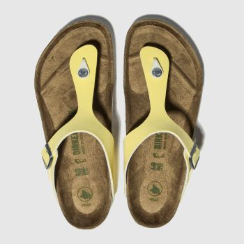 Birkenstock Yellow Gizeh Vegan c2namevalue::Womens Sandals