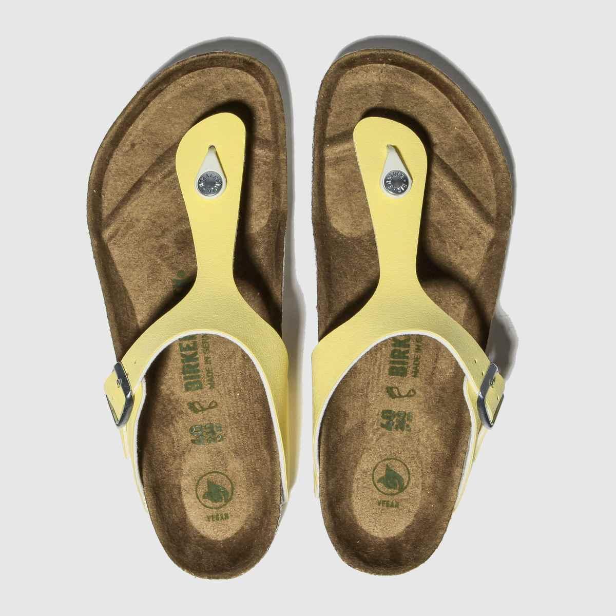 Birkenstock Yellow Gizeh Vegan Sandals